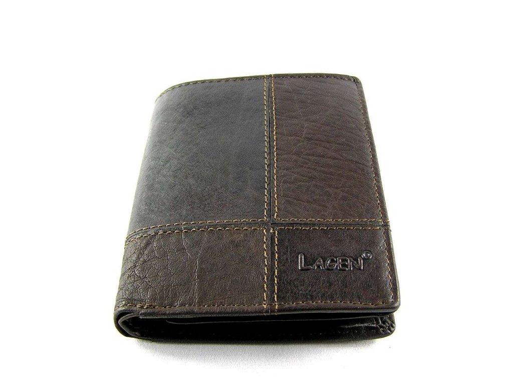 Kožená peněženka Lagen - tmavě hnědá
