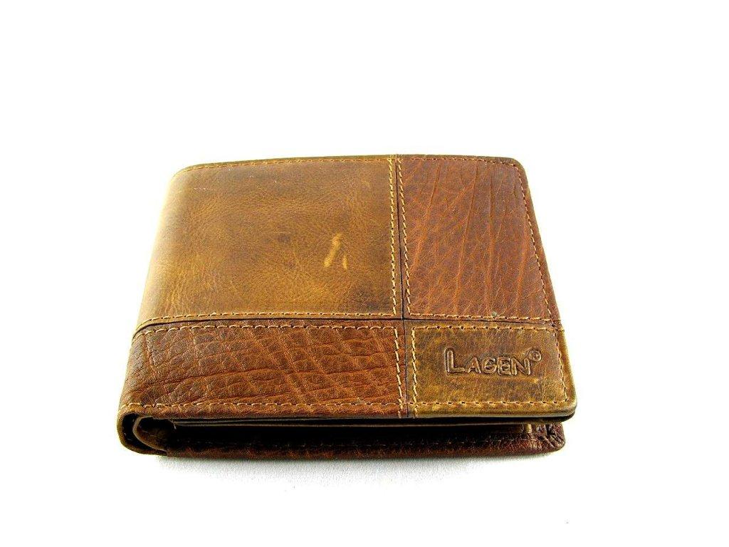 Kožená peněženka Lagen - hnědá