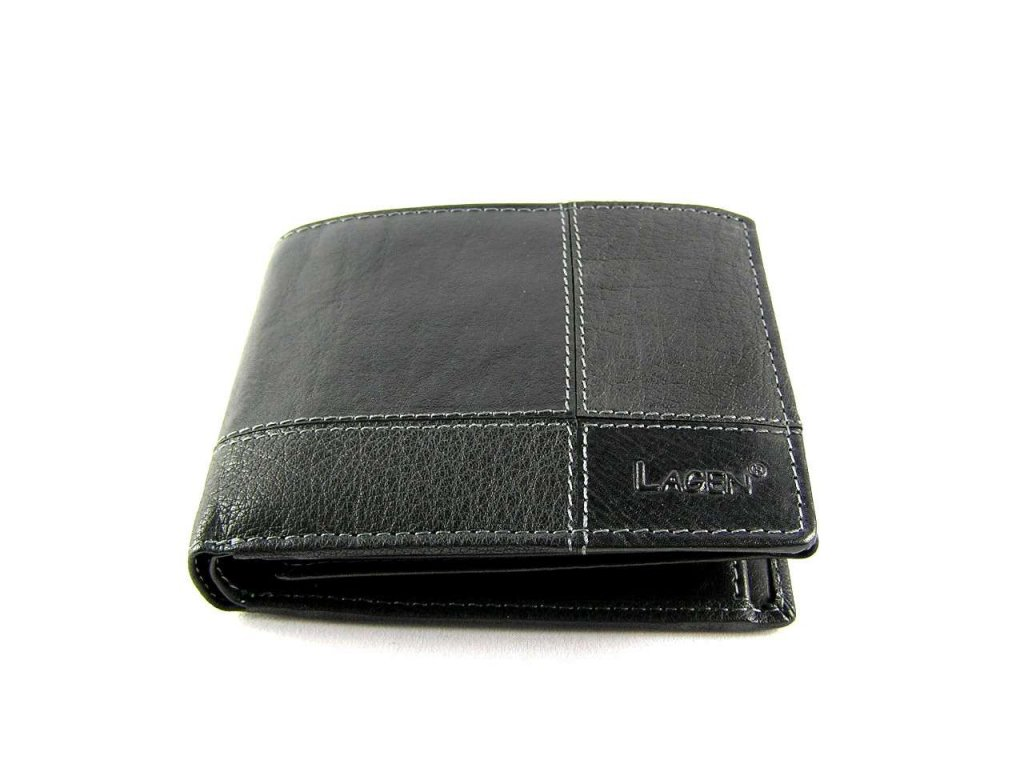 Kožená peněženka Lagen - černá