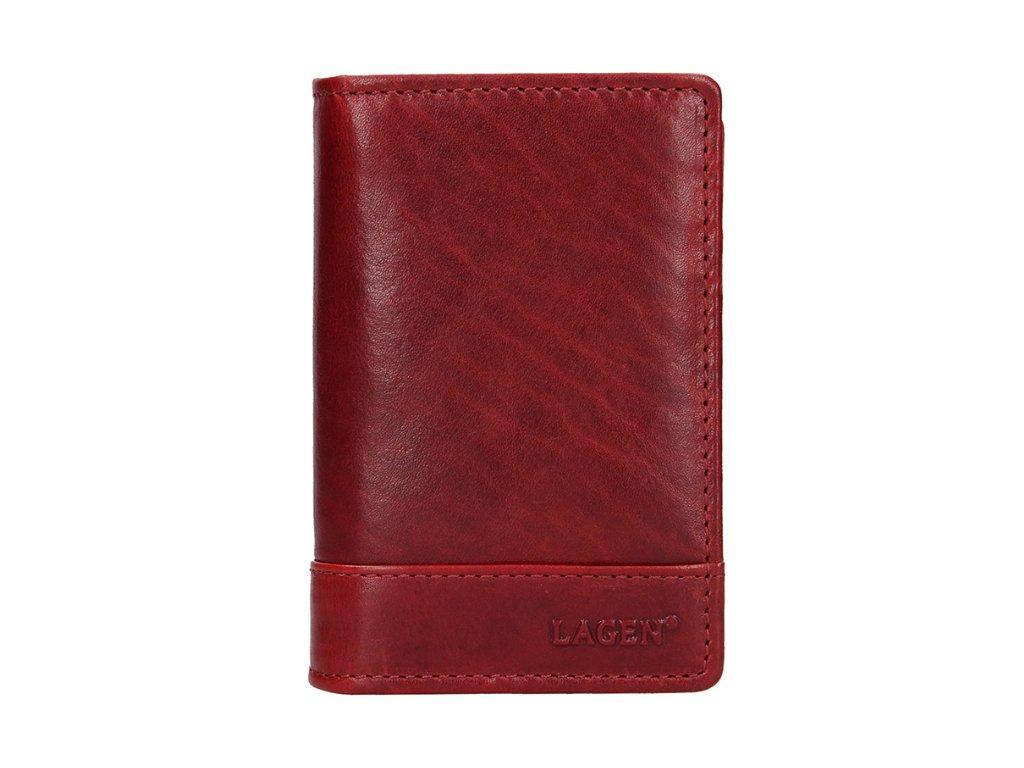 Kožená dokladovka Lagen - červená