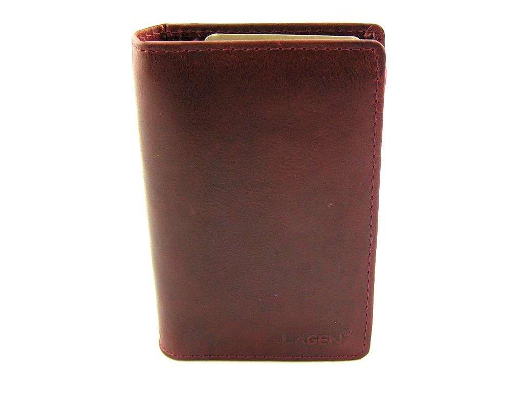 Kožená dokladovka Lagen - vínová
