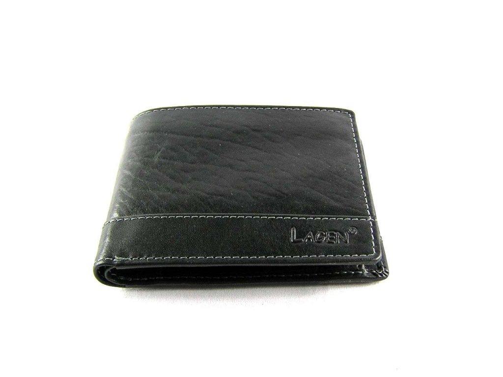 d9fb2af67f0 Klasická pánská kožená peněženka značky Lagen - černá ...