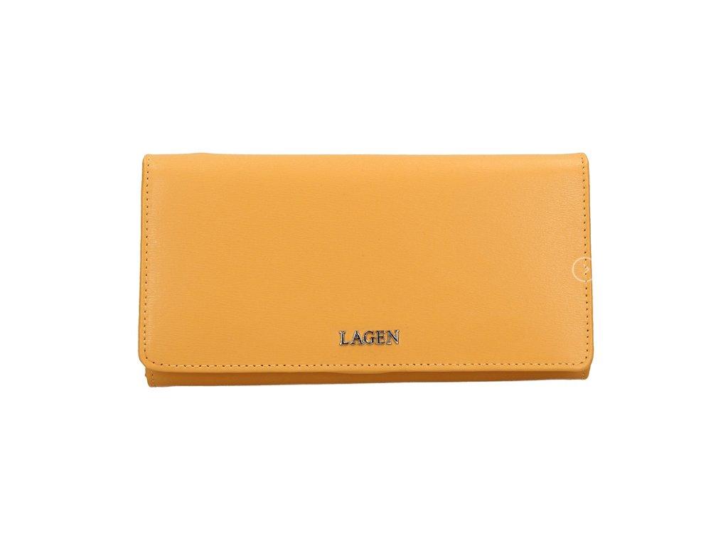 Luxusní kožená peněženka Lagen - žlutá