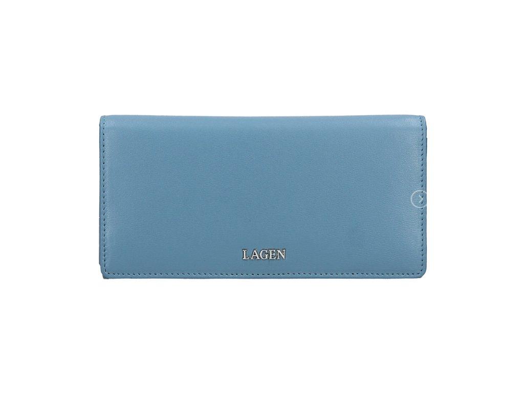 Luxusní kožená peněženka Lagen - světle modrá
