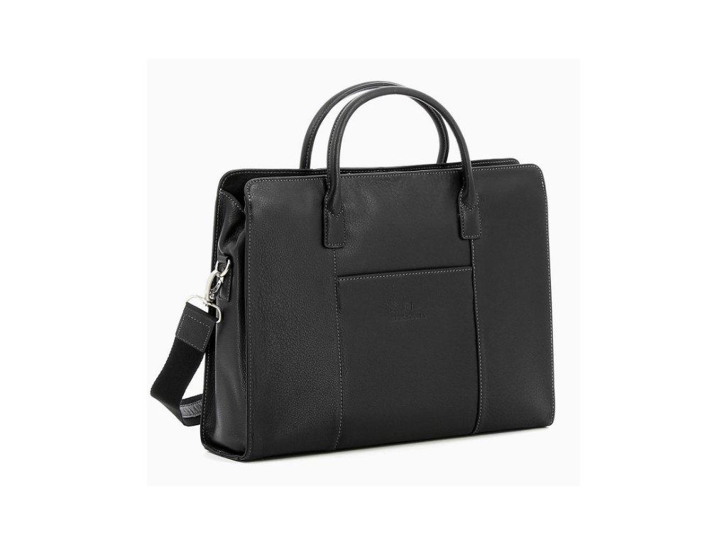 Dámská kožená manažerská taška Hexagona - černá