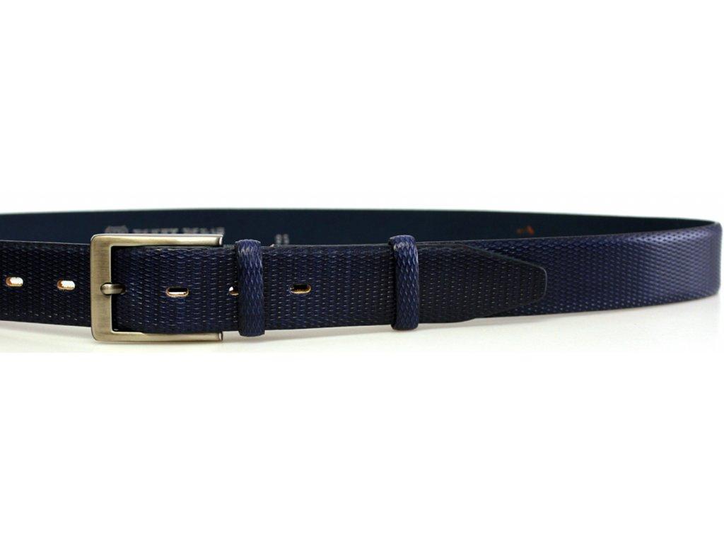 Společenský modrý kožený opasek - Penny Belts