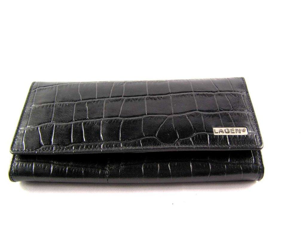 Luxusní dámská peněženka Lagen - černá