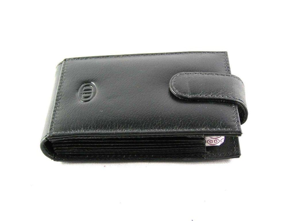 Kožené pouzdro na vizitky, platební karty - černá