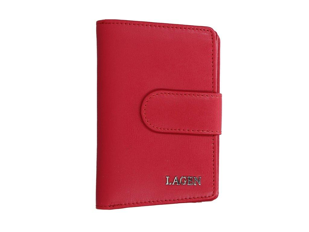 Kožená peněženka Lagen - červená