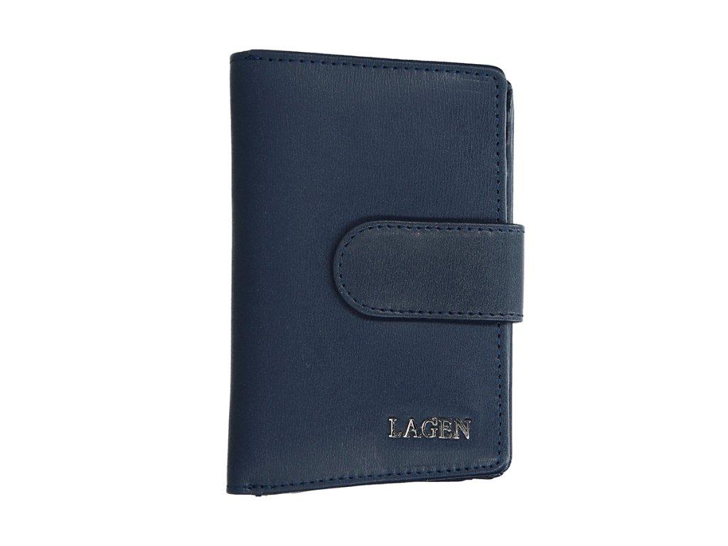 Kožená peněženka Lagen - tmavě modrá