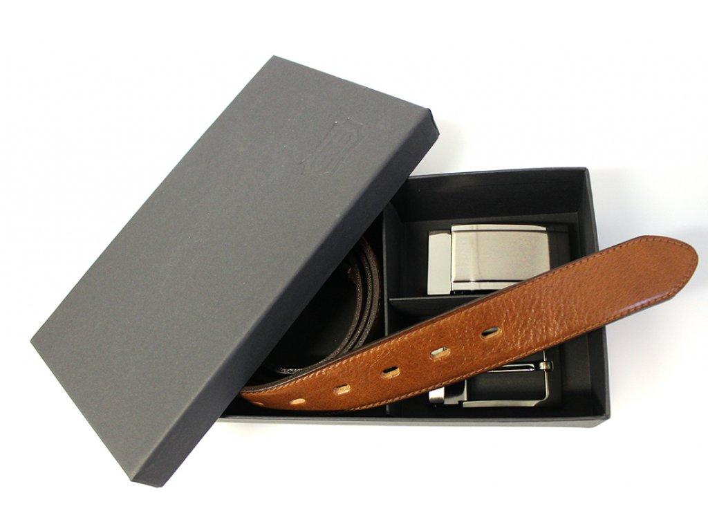 Dárkový set se světle hnědým koženým opaskem - Penny Belts