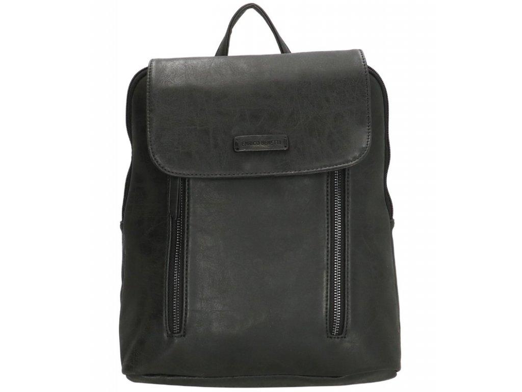 Koženkový batoh Enrico Benetti - černý