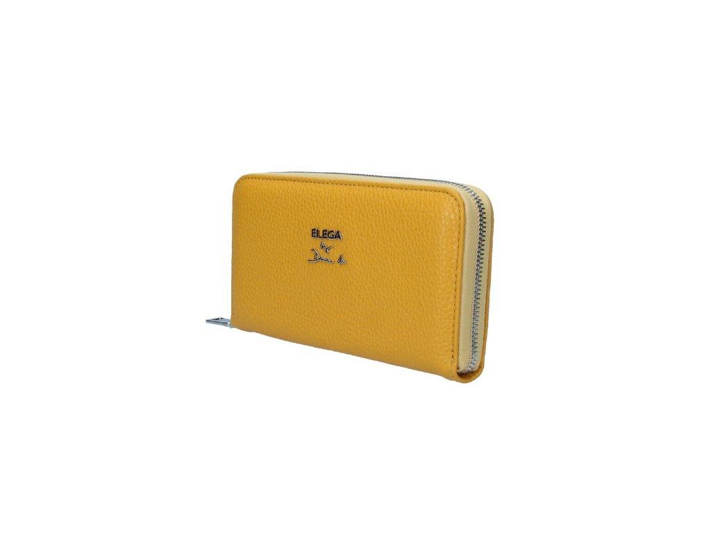 Penálová kožená peněženka Elega by Dana M. Manon žlutá