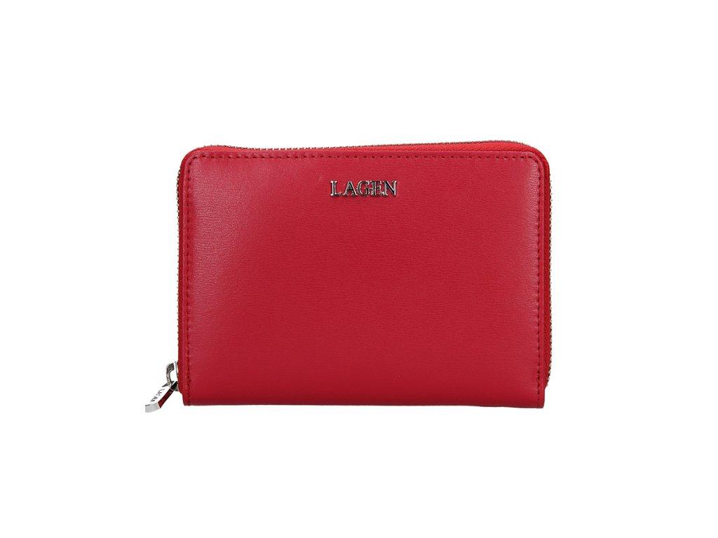 Červená menší penálová peněženka Lagen