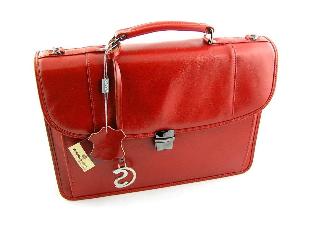 Luxusní dámská aktovka Silvercase - červená