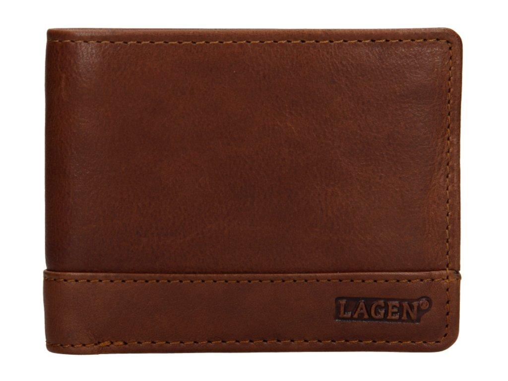 Klasická pánská kožená peněženka značky Lagen - tan