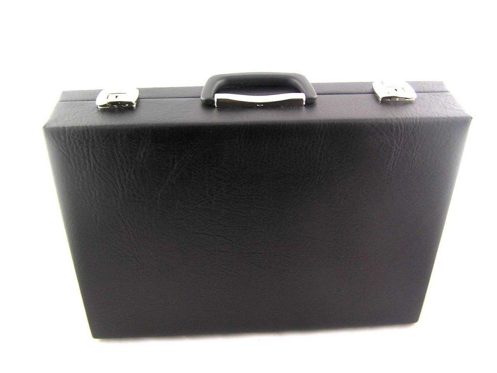 Pánský koženkový kufr - černý