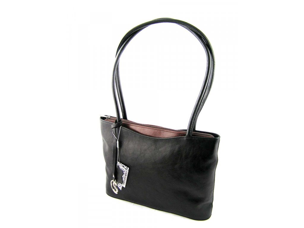 Elegantní kožená kabelka Silvercase - černo tmavě hnědá