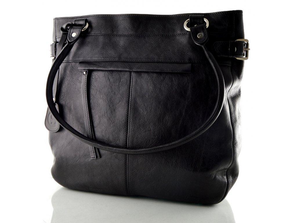 Elegantní kožená kabelka Silvercase- černá