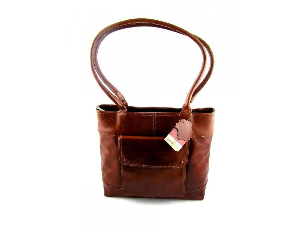 Velká kožená kabelka Silvercase - hnědá - Elegancedoruky.cz 4715f527ac5