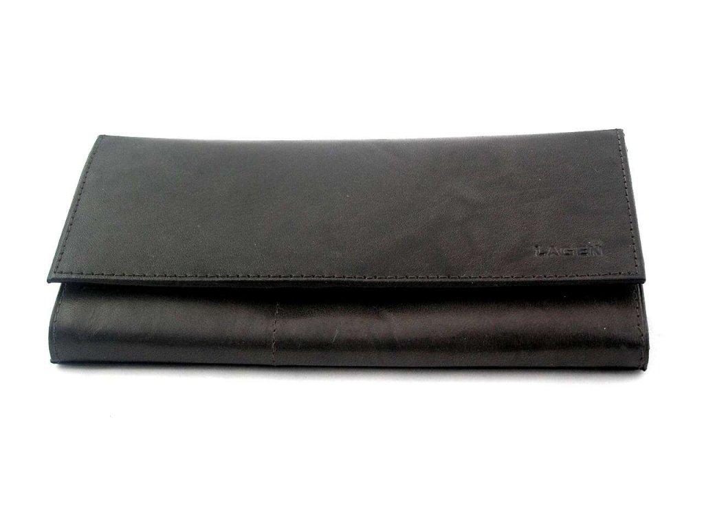 Klasická dámská peněženka Lagen - tmavě hnědá