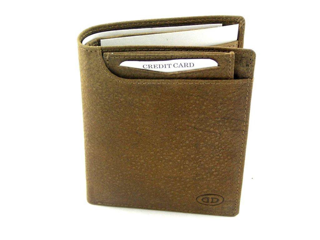 Kožená peněženka DD - hnědá