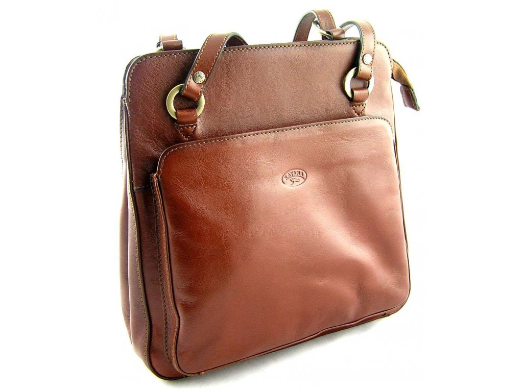Kožený kabelko-batůžek Katana - hnědý