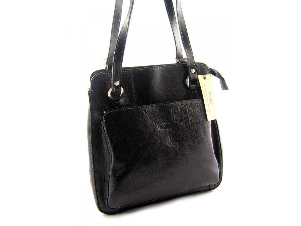 Kožený kabelko-batůžek Katana - černý