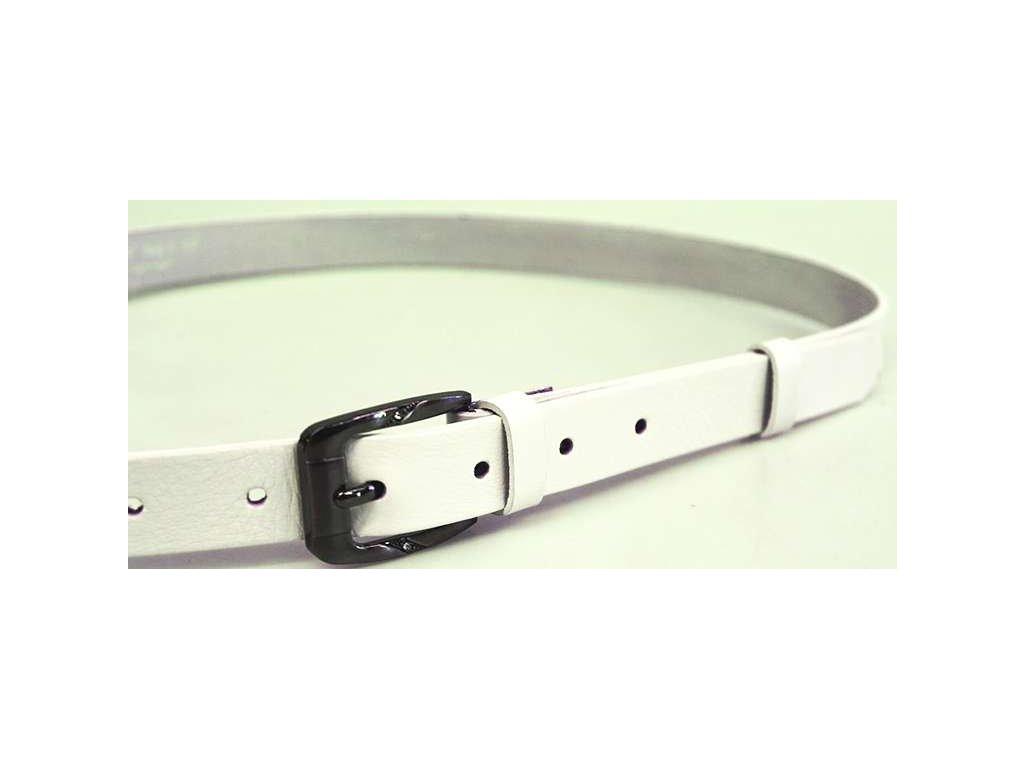 Bílý úzký dámský opasek - Penny Belts