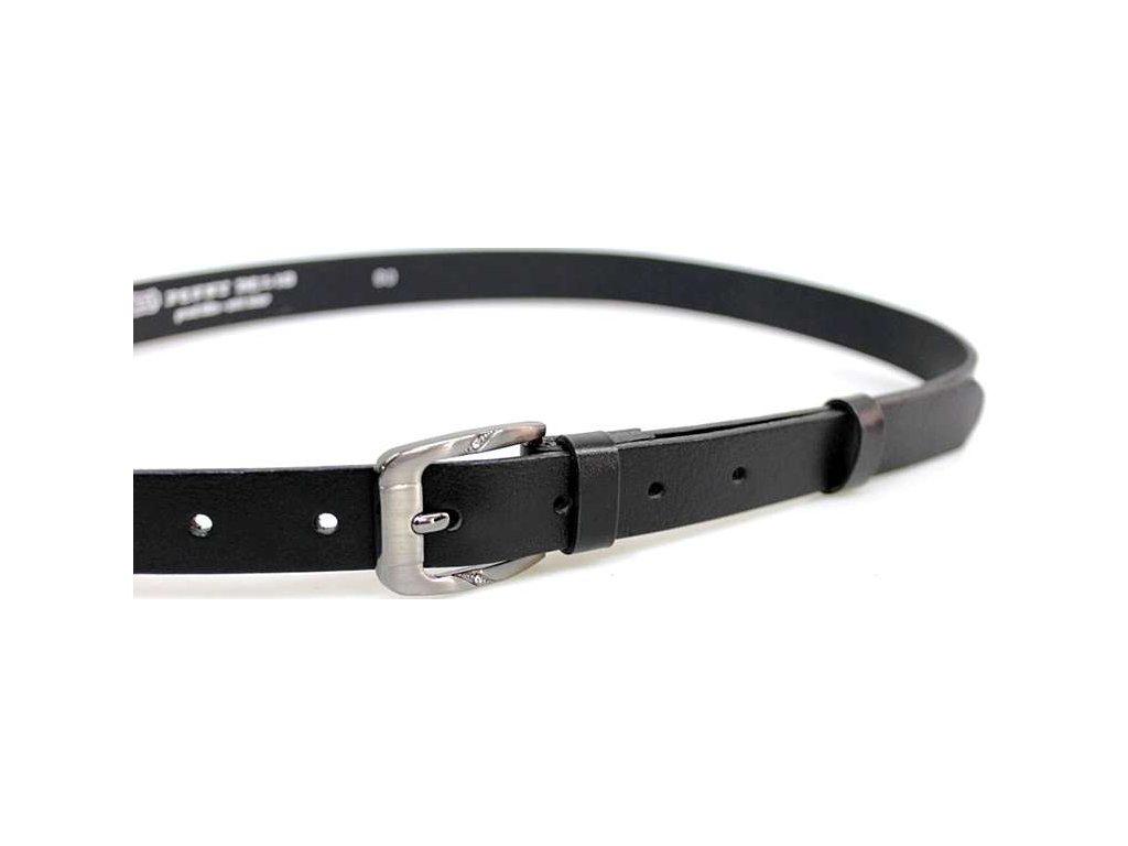 Černý úzký dámský opasek - Penny Belts
