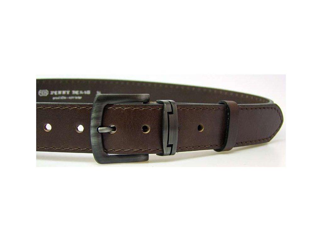 Hnědý kožený opasek - Penny Belts