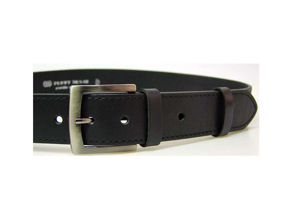 Černý kožený opasek - Penny Belts