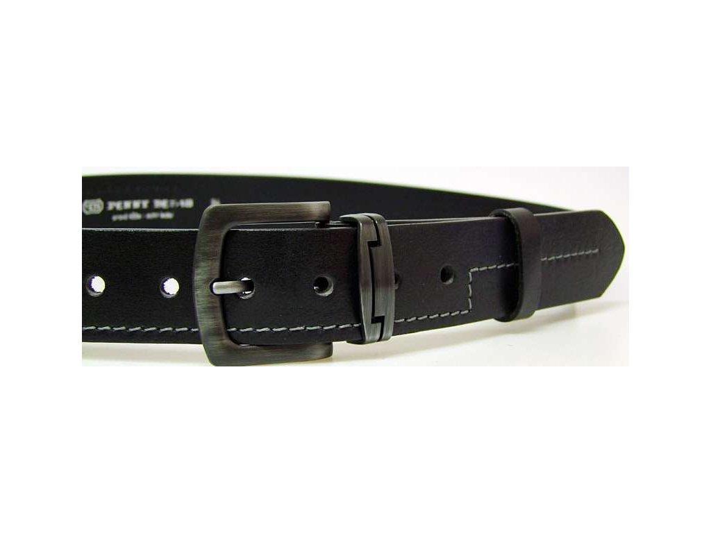 Černý kožený opasek 110 - Penny Belts
