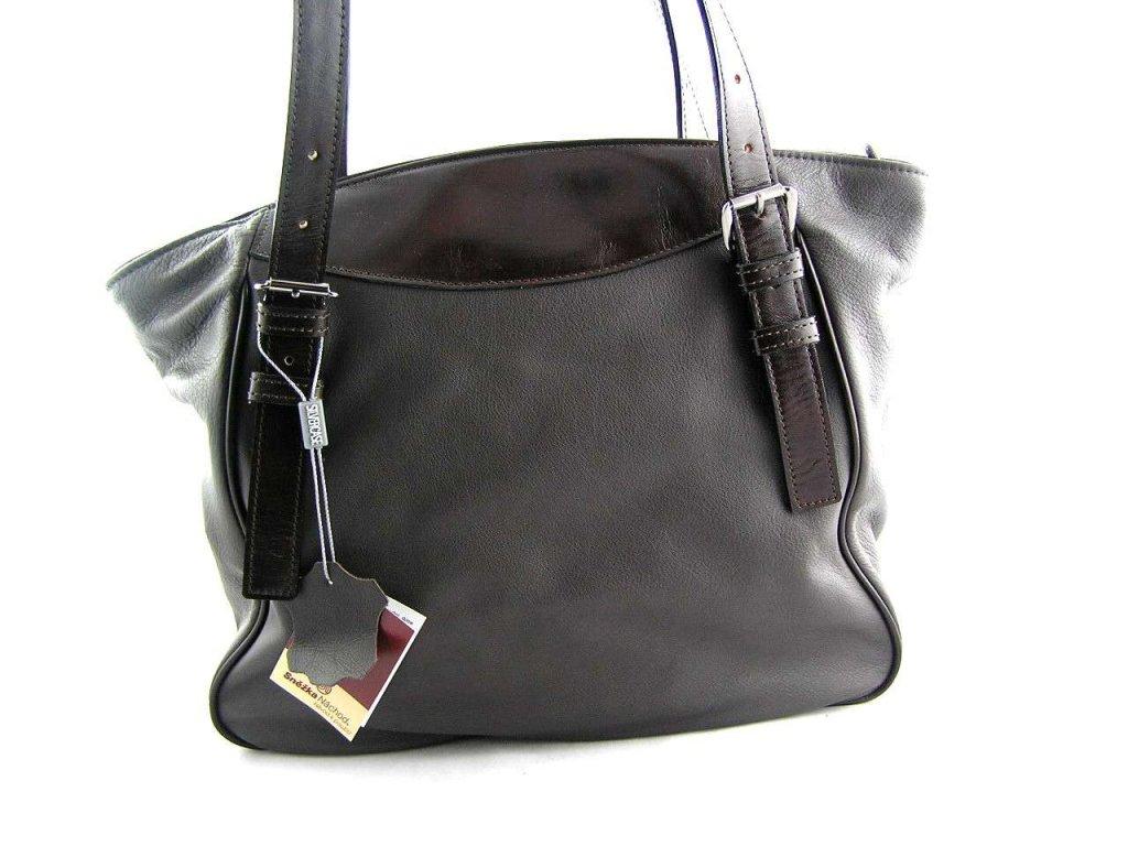 Měkká kožená kabelka Silvercase- hnědá
