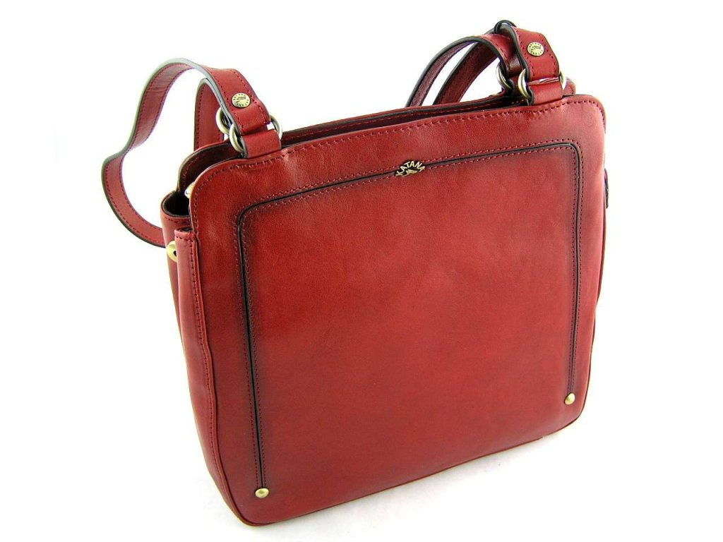 Kožený kabelko-batůžek Katana - červený