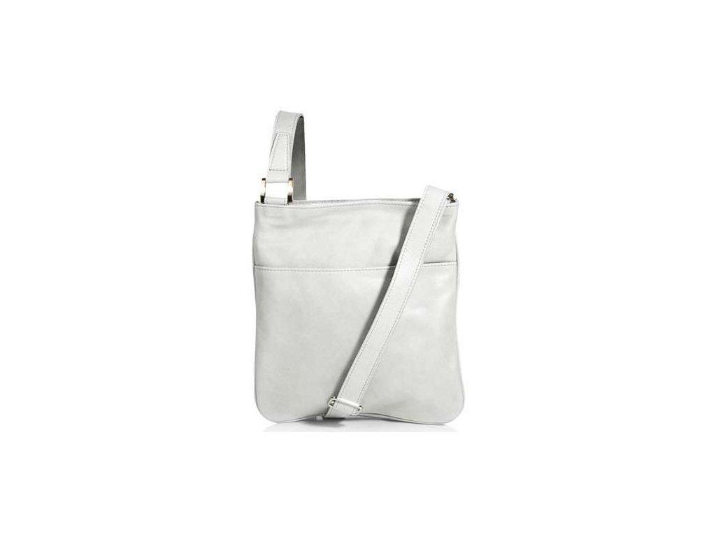 Kožená taštička Silvercase - bílá