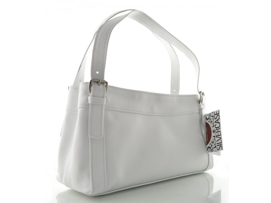 Bílá menší kabelka - Silvercase