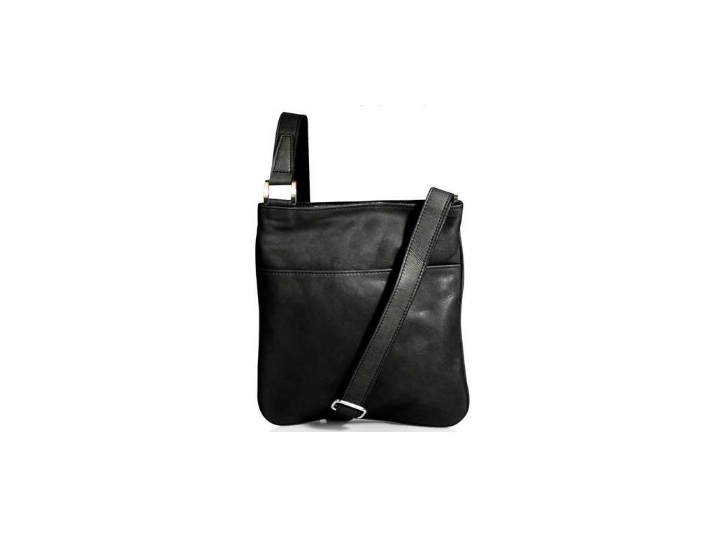 Kožená taštička Silvercase - černá