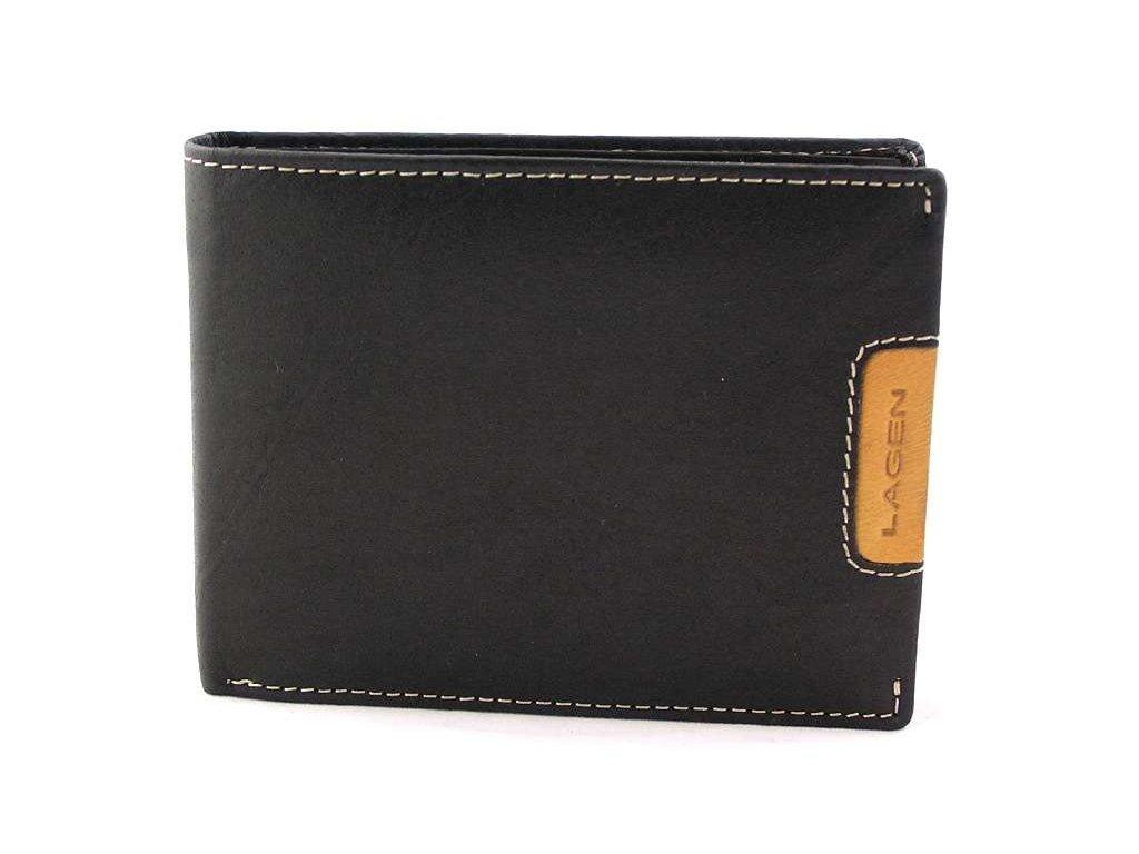 Pánská peněženka Lagen hladká - černá