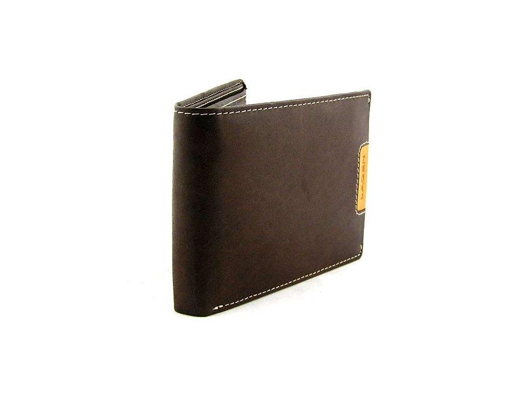 Pánská peněženka Lagen hladká - hnědá