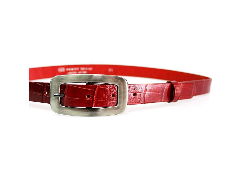 Červený kroko dámský opasek - Penny Belts
