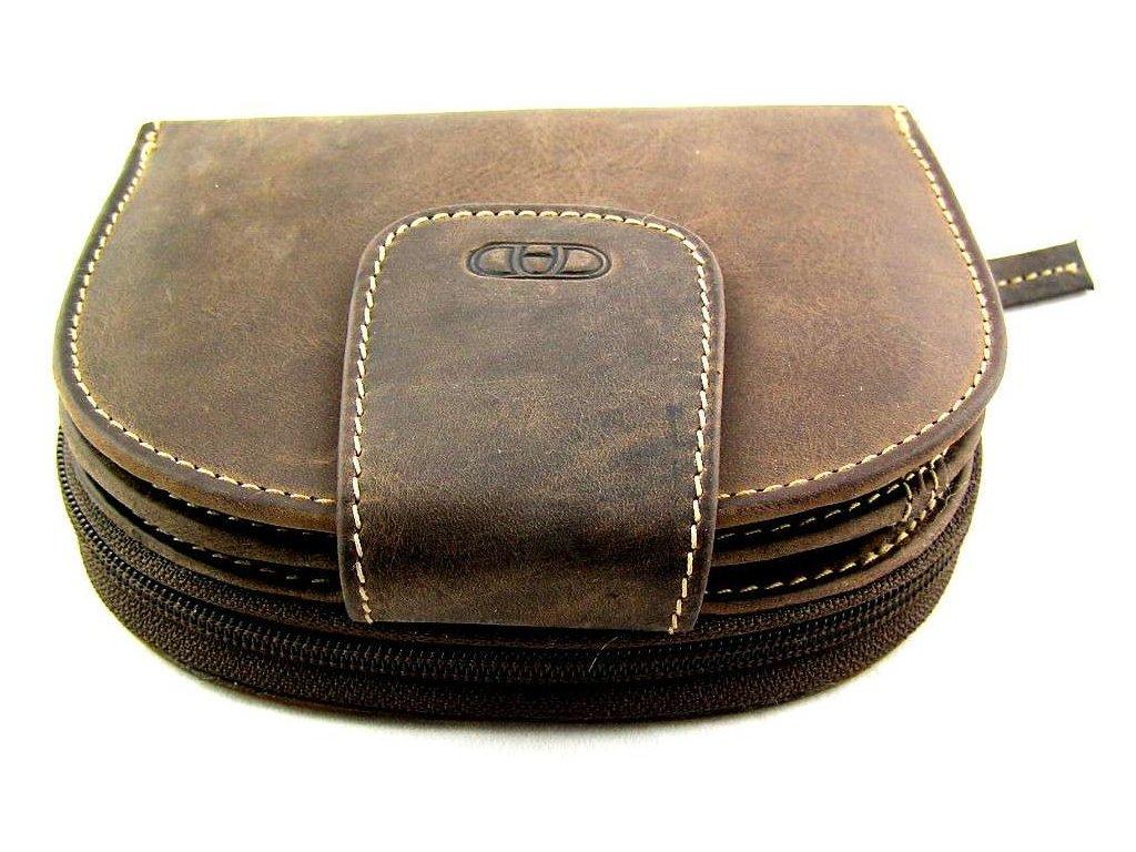 Kožená peněženka DD - tmavě hnědá