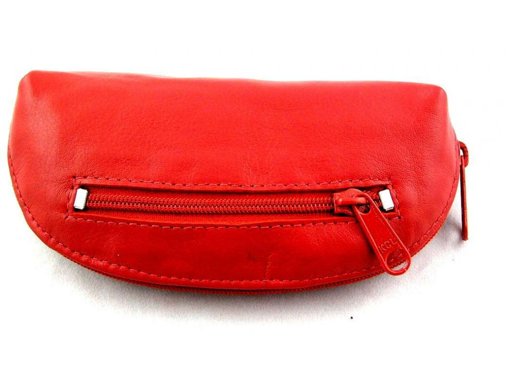 Kožená klíčenka Arwel - červená