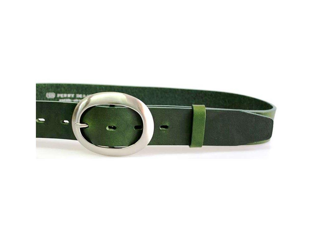 Zelený kožený dámský opasek - Penny Belts