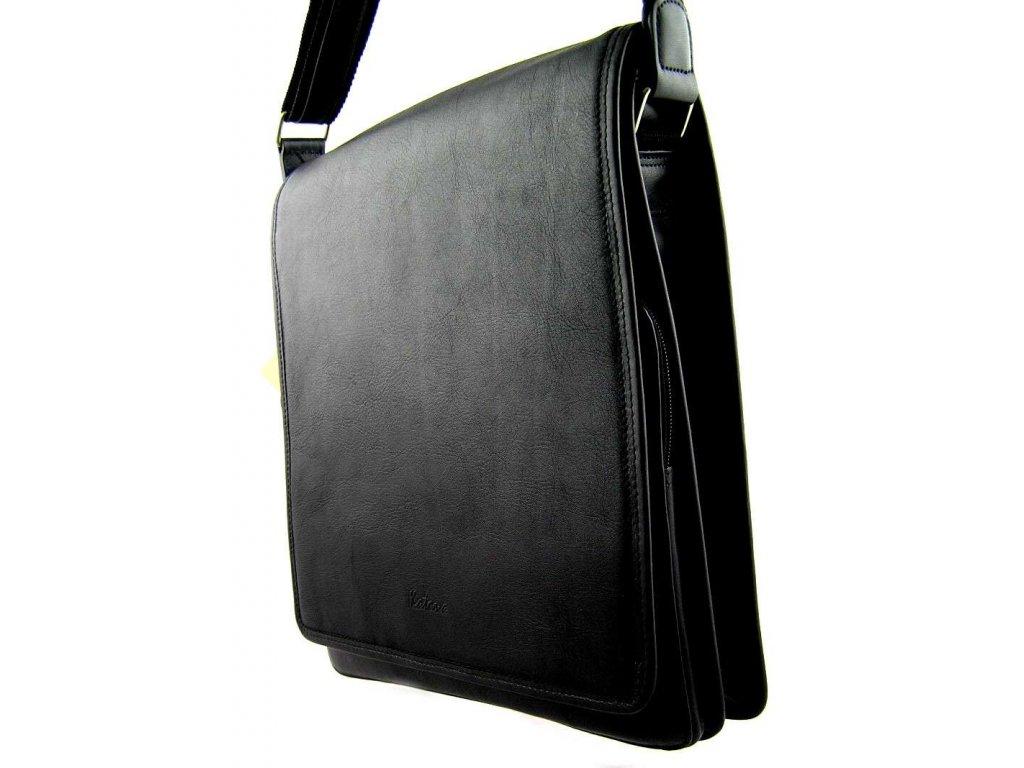 Kožená taška přes remeno KATANA - černá