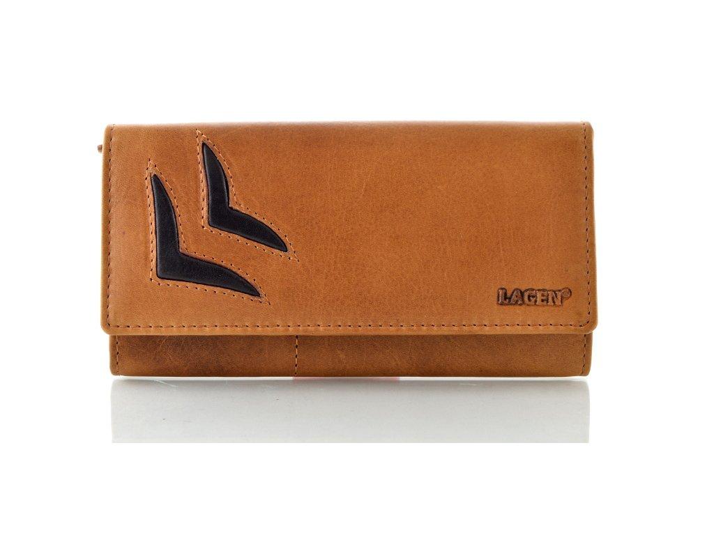 Luxusní kožená peněženka Lagen - hnědá