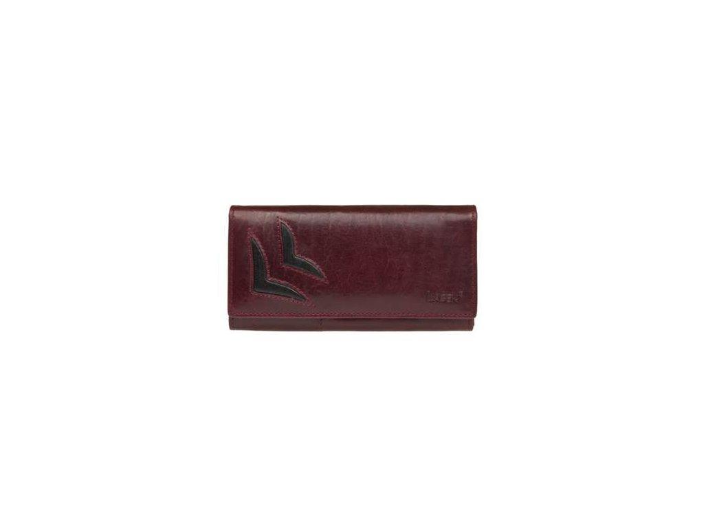 Luxusní kožená peněženka Lagen - vínová