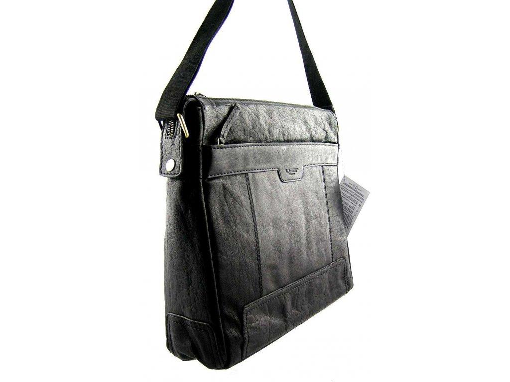 Kožená taška přes rameno Lagen - černá