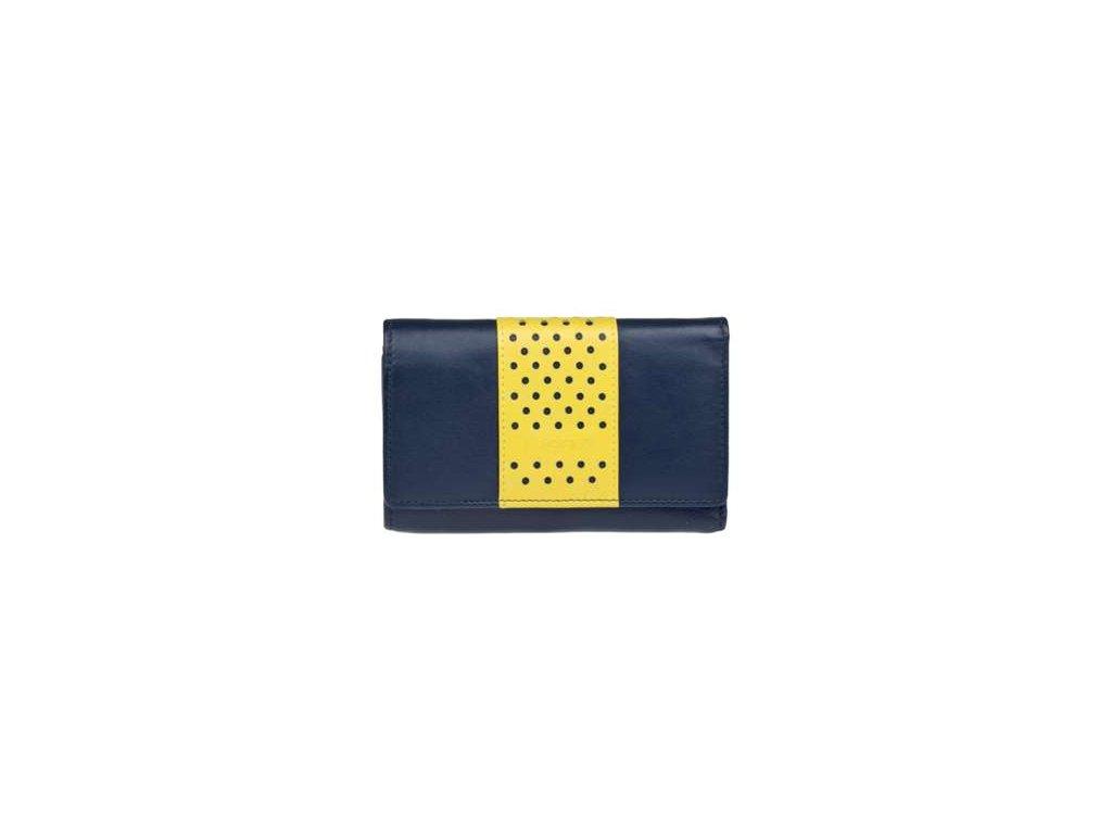 Luxusní kožená peněženka Lagen - modrožlutá