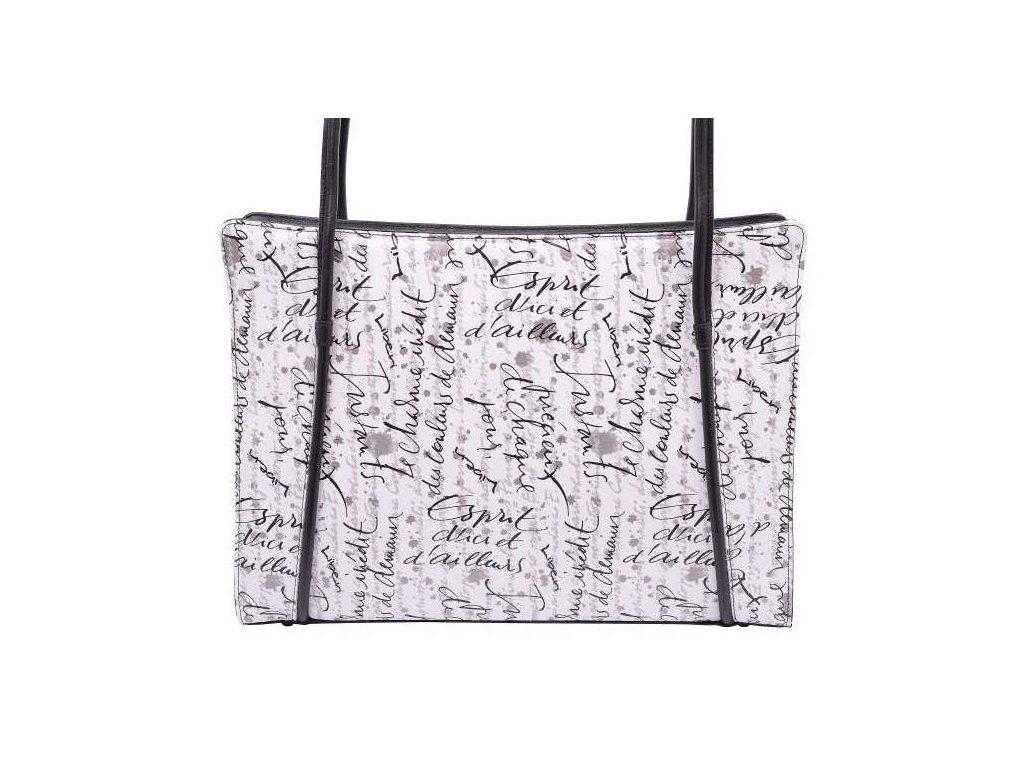 Kožená kabelka Hajn - černo bílá